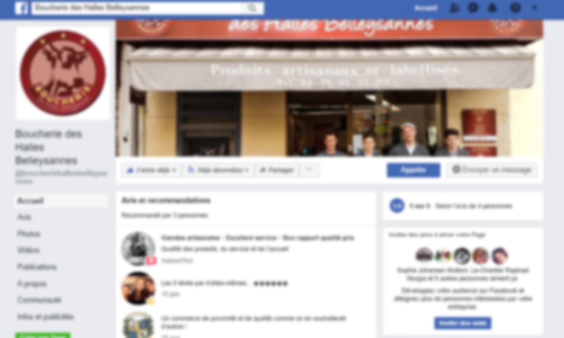 facebook boucherie halles